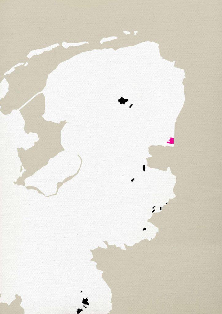 geografische aanduiding van het Burgerveen en andere hoogveengebieden in Nederland